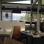 superb breakfast overlooking the ocean