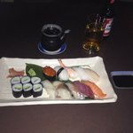 Sushi meal was to die for - first proper time with chop sticks to, delightful staff and excellen
