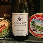 The wine and goat cheese bought in Cheverny