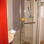 Quite big - shower room hot water quite quick