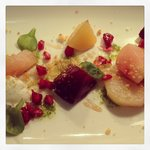Beetroot Salad, Goat's Curd, Pomegranate & Sherry Glaze