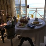 delicious anniversary breakfast in our room