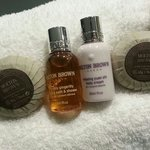 Molton bath products in the washroom
