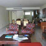 Open kitchen/dining/lounge room
