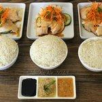 Hainanese chicken set for three