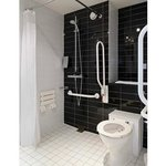 Wheelchair access bathroom