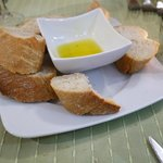bread and ifused flavoured extra virgin olive oil