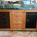 Credenza, hand made brass screens made in London