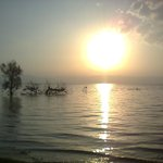 Sun rising over the lake of Tiberias, shot on the Hotel's beach