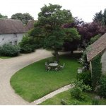 The courtyard showing the B&B rooms and La Petite Maison