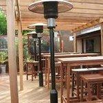 large heated beer garden