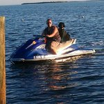 Frankie loves these jet skis