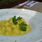 Nuestro exquisito plato de Gnocchi Gorgonzola Zaferano