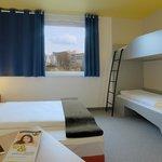 B&B Hotel Kaiserslautern - Familienzimmer für 4 Personen