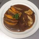Cajun spiced Nidderdale Chicken, Sweet Potato Wedges & BBQ Sauce