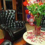 executive chair for valentine's photo session