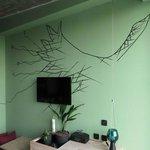 Nice wall paintings in hotel room
