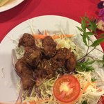 Deep fried garlic and pepper spare ribs