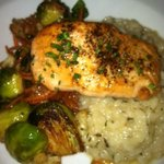 Ginger Seared Salmom and Lemon Risotto