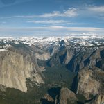 Yosemite National Park, view from the air