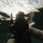 A selfie while snorkeling