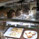 Frappe and smoothies, too! And lots of sweet treats. Including gluten free items.