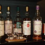 Extensive malt whisky collection