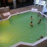 Glowing green pool