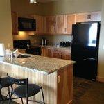 kitchen in 1 bedroom king suite Hotel Jay