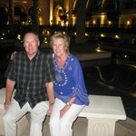 Ken and Linda outside the Palace Hotel