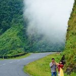 Shillong-Mawlynnong hilly way with hide and seek clouds