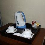 Cafe-Te de cortesia en la habiation