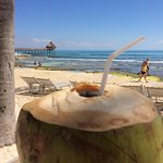 Coconut water and diet Coke... nice!