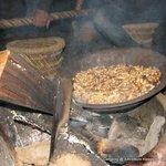 Bonfire with peanuts