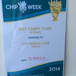 The marina cafe best chips award