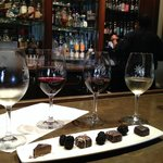 Wine and chocolate decadence at the hotel's Trinitas Wine Cellars