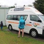 Notre site de camping-car avec eau et électricité