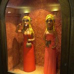 6-Interesting statues in ladies room by Tortuga