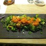 Insalatina salmone asparagi e patate