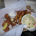Crispy fried scallops