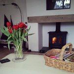 Cosy fire burning in the main living room
