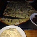 hummus  and flatbread appetizer...huge!