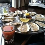 A dozen Virginia oysters and a shooter!
