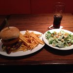 Texas BBQ burger with side salad
