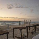 Cabanas at sunrise
