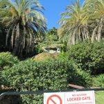 de tuin vanaf burriana beach