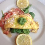 Roasted tomato and fair cheese omelette