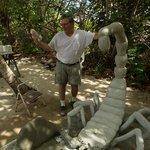 David Davinoff working on the latest sculpture.