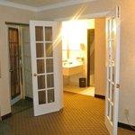 DOORS BETWEEN THE BEDROOM  AND LIVING AREA