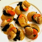 Scallops with black pudding